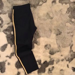 Navy and gold ankle pants